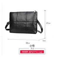 韩版男士格子手拿包 时尚手包男包 潮流商务信封包男ipad包文件包