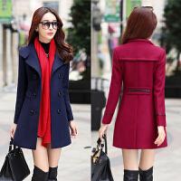 毛呢外套女 中长款韩国冬季中年30-40-50岁收腰气质保暖妮子大衣