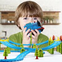 小火车套装电动轨道玩具多层3-8岁儿童礼物男孩子组装