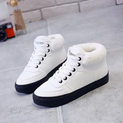 环球 冬季保暖加绒韩版短靴学生休闲百搭女雪地靴