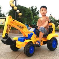 遥控儿童挖掘机可坐可骑大号电动挖土机男孩玩具车钩机工程2-7岁 带遥控 全电动挖掘机+拖车 质保一年+终身售后