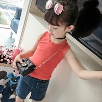 女童夏装童装女儿童吊带背心夏季薄款百搭纯色打底衫