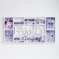 欧式相框挂墙6寸7寸连体组合love创意艺术照片墙婚纱影楼洗照片框 Family十框白 7寸4个 6寸6个 尺寸请看详