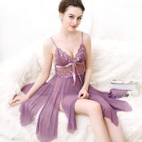 女冬夏蕾丝吊带睡裙极度性感睡衣诱惑大码透明情趣内衣家居服