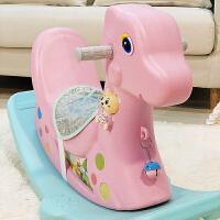 儿童小木马婴儿玩具塑料摇马带音乐