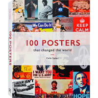 【英文版】100 Posters 100张经典海报设计解读 平面设计书籍