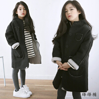 2017冬装新款女童棉袄中长款加厚韩版童装儿童外套羊羔绒大衣