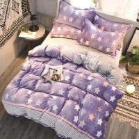 家纺加厚雕花绒珊瑚绒四件套冬季保暖床品法莱绒水晶绒床单被套法兰绒