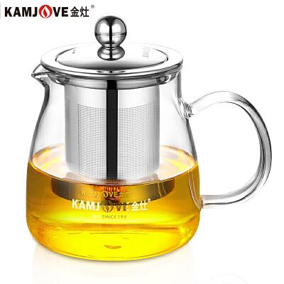 金灶(KAMJOVE)A-02泡茶壶茶道杯飘逸杯耐热玻璃杯500ml办公杯