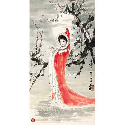 薛林兴《昭君》著名画家