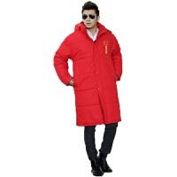 并力运动大衣中长加厚男式运动大衣 冬季足秋训练运动棉衣 运动大衣