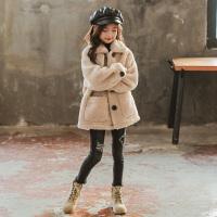 女童皮毛一�w外套秋冬�b新款�和�大衣