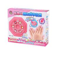 儿童DIY手工指甲贴片 化妆饰品玩具防水美甲贴纸套装女孩