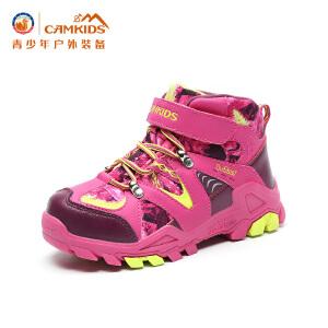 CAMKIDS男童鞋女童运动鞋加绒男童棉鞋2017冬季儿童登山鞋