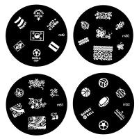 印花钢板 美甲转印工具彩绘指甲油刮刀印章用品 m49-m72系列印花模板