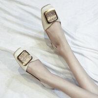 户外单鞋外穿气质性感时尚女士韩版休闲舒适平底女鞋