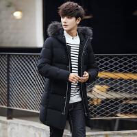 羽绒服男冬季新款韩版男士加厚中长款连帽衣服青年潮流外套男