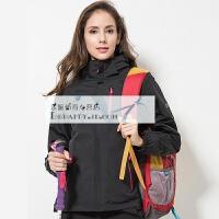 户外冲锋衣男女三合一 两件套防水透气登山服情侣 大码西藏旅游外套