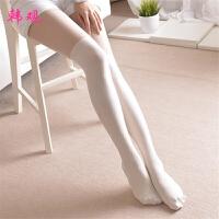 韩观 高筒女袜子性感定型长筒丝袜大腿袜纯大腿袜 均码