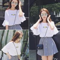裙子夏季2018新款学院风小清新套装裙学生韩版bf两件套连衣裙女潮
