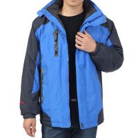 中老年男装外套秋冬装加绒户外运动上衣中年男加厚外套内胆可脱卸