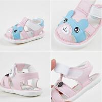 婴儿步前鞋女6-12个月男宝宝皮凉鞋1-2岁软底防滑幼儿夏季鞋子