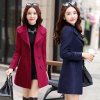 冬季优雅毛呢外套中长款妈妈装呢子大衣女装中年30-35-40-45-50岁