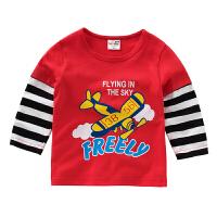 童装男童长袖t恤儿童婴幼上衣宝宝印花T恤