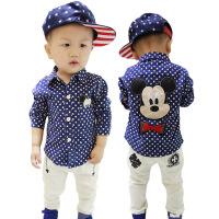 4小孩2男宝衬衣1-3岁纯棉宝宝5男童衬衫长袖全棉秋季新款韩版