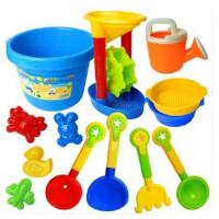 【全店支持礼品卡】建雄 儿童沙滩玩具13件套装大号沙滩桶套装组合宝宝玩沙挖沙大号铲子戏水洗澡工具