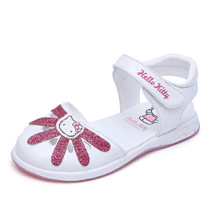 Hello Kitty童鞋女童凉鞋包头夏季新款凉鞋公主鞋儿童沙滩鞋