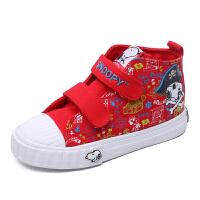 史努比童鞋男童帆布鞋新款儿童布鞋中小童时尚潮流板鞋