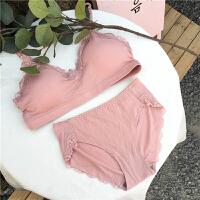 韩版百搭少女学生蕾丝边短款抹胸裹胸无钢圈文胸性感胸罩内衣套装