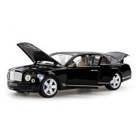1:18宾利慕尚车模原厂仿真合金汽车模型摆件收藏金属轿车模型 黑色 宾利慕尚