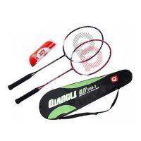 强力 羽毛球拍 碳素学生双拍 情侣款 业余初级训练拍2支装 B89-2