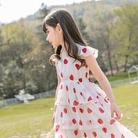 女童雪纺连衣裙夏装儿童装公主裙子中大童过膝长裙仙