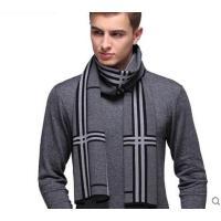 气质大方百搭韩版防寒男士羊毛围巾休闲格子加厚保暖围脖