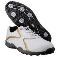 PGM 高尔夫鞋男 高尔夫球鞋 男款 高尔夫运动鞋 休闲款 golf鞋 休闲高尔夫鞋 金色XZ016