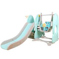 儿童室内滑梯 太空火箭家用多功能滑滑梯秋千宝宝组合滑梯塑料玩具加厚 太空系列四合一 绿