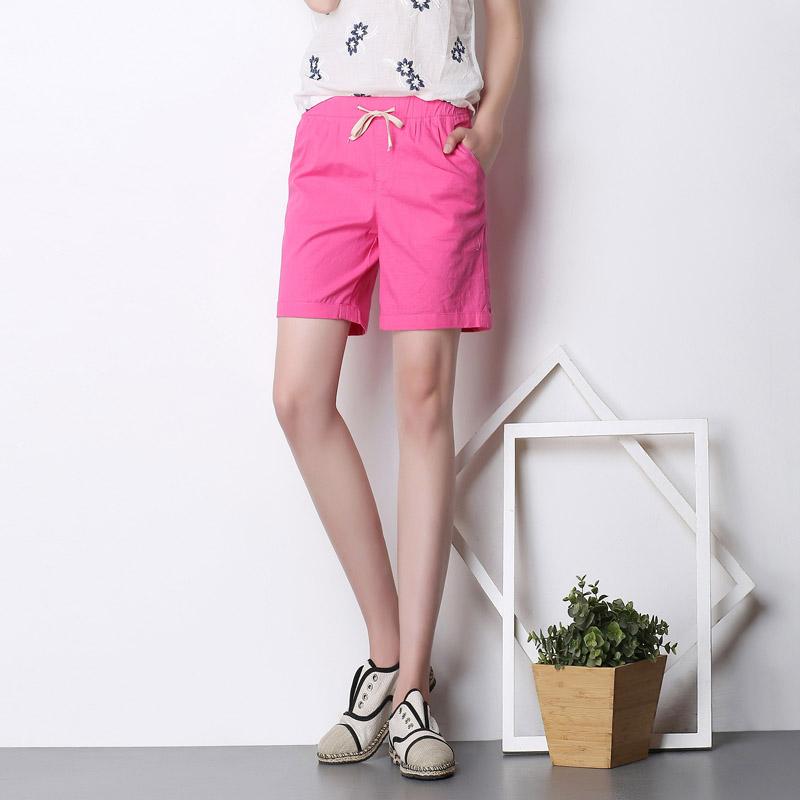 夏季薄款宽松棉麻大码五分裤亚麻女夏休闲裤女短中裤直筒裤