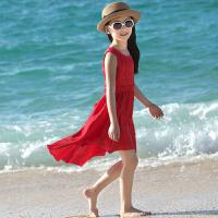 新款儿童夏季沙滩裙海边度假韩版连衣裙中大童时尚裙子