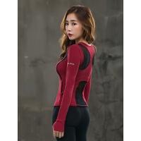 韩国瑜伽服女秋冬显瘦吸汗紧身上衣健身房专业运动健身服女长袖