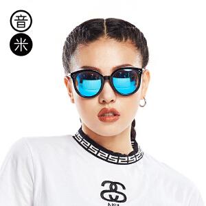 Inmix音米时尚个性眼镜 圆脸大框太阳镜 圆形防紫外线墨镜1712