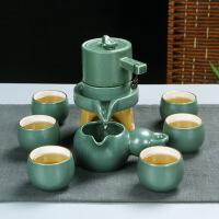 【品牌热卖】自动茶具套装旅行功夫整套复古窑变自动功夫茶具套装 整套陶瓷礼品 窑变绿葫芦自动茶具