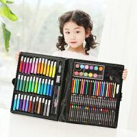 捷�N 儿童益智玩具绘画文具150件套装礼盒画画玩具画笔蜡笔水彩笔小学生礼物用品玩具