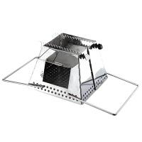 户外柴火炉野营炊具炉具灶具野餐用品不锈钢支架组合型炉子