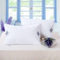 酒店枕头羽丝绒薰衣草枕芯保健枕头 单人枕心 全棉 白色一个