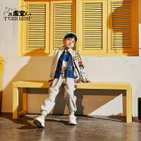 【2件3折:143.7元】小虎宝儿纯棉男童运动套装2021春秋儿童两件套潮