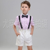六一儿童演出服花童礼服男童西装套装儿童礼服男童短袖背带套装春