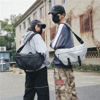 户外运动单肩包男潮牌运动大容量邮差包街头潮流胸包休闲骑行斜挎包女